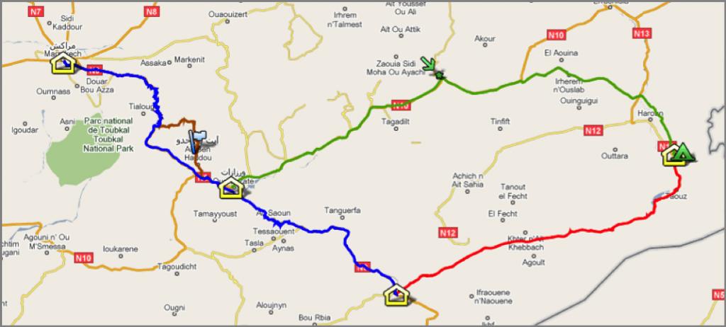 Marokko_karte